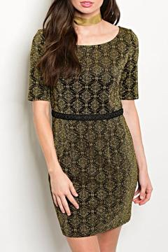 Shop The Trends  Black Gold Dress - Product List Image
