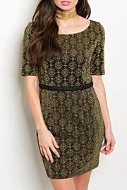 Shop The Trends  Black Gold Dress - Product Mini Image