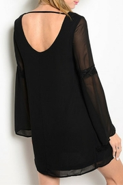 Shop The Trends  Black Lace Dress - Front full body