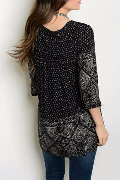 Shoptiques Product: Black Print Tunic
