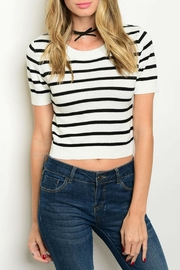 Shop The Trends  Black Striped Top - Product Mini Image