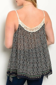 Shop The Trends  Black Tribal Top - Front full body
