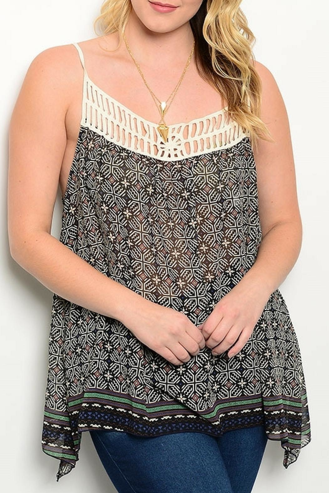 Shop The Trends  Black Tribal Top - Main Image