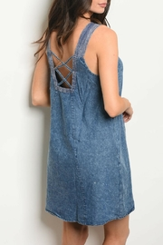 LoveRiche Blue Denim Dress - Product Mini Image