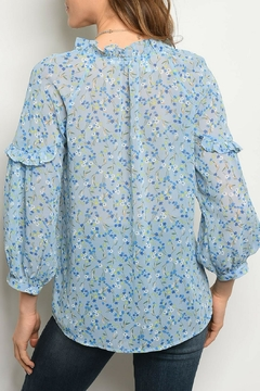 Available Blue Floral Top - Alternate List Image