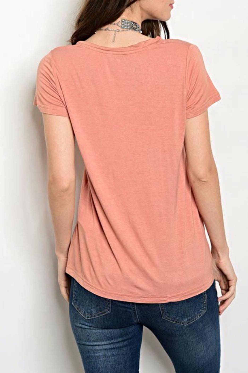 Shop The Trends  Blush Pocket Tee - Front Full Image