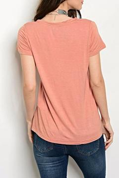 Shop The Trends  Blush Pocket Tee - Alternate List Image