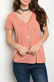 Shop The Trends  Blush Pocket Tee - Product Mini Image