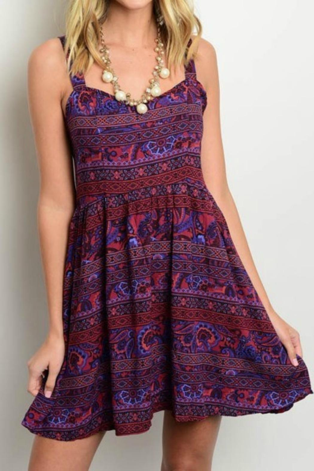 Shop The Trends Boho Purple Dress from California by ...