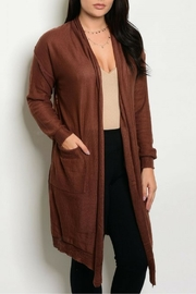 Shop The Trends  Brown Cardigan - Front cropped