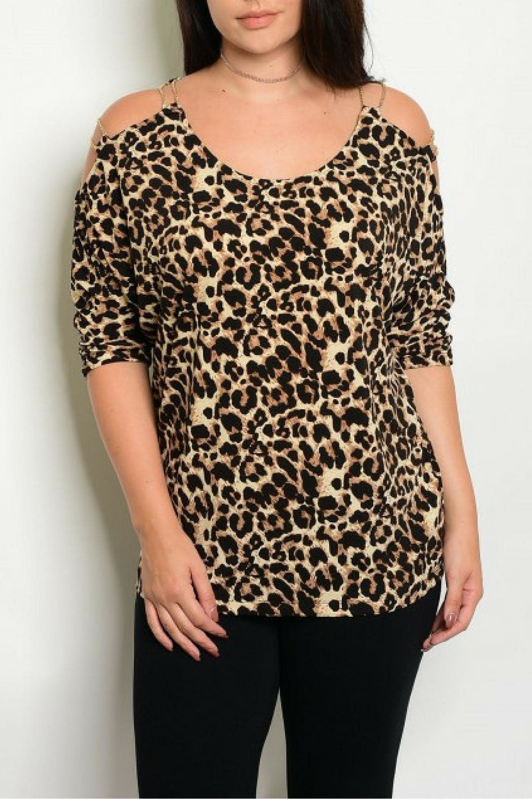 Shop The Trends  Cheetah Print Top - Front Cropped Image