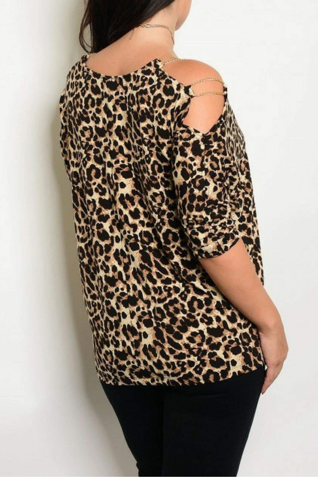 Shop The Trends  Cheetah Print Top - Front Full Image