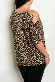 Shop The Trends  Cheetah Print Top - Front full body