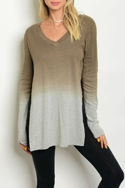 LoveRiche Cocoa Ombre Top - Front cropped