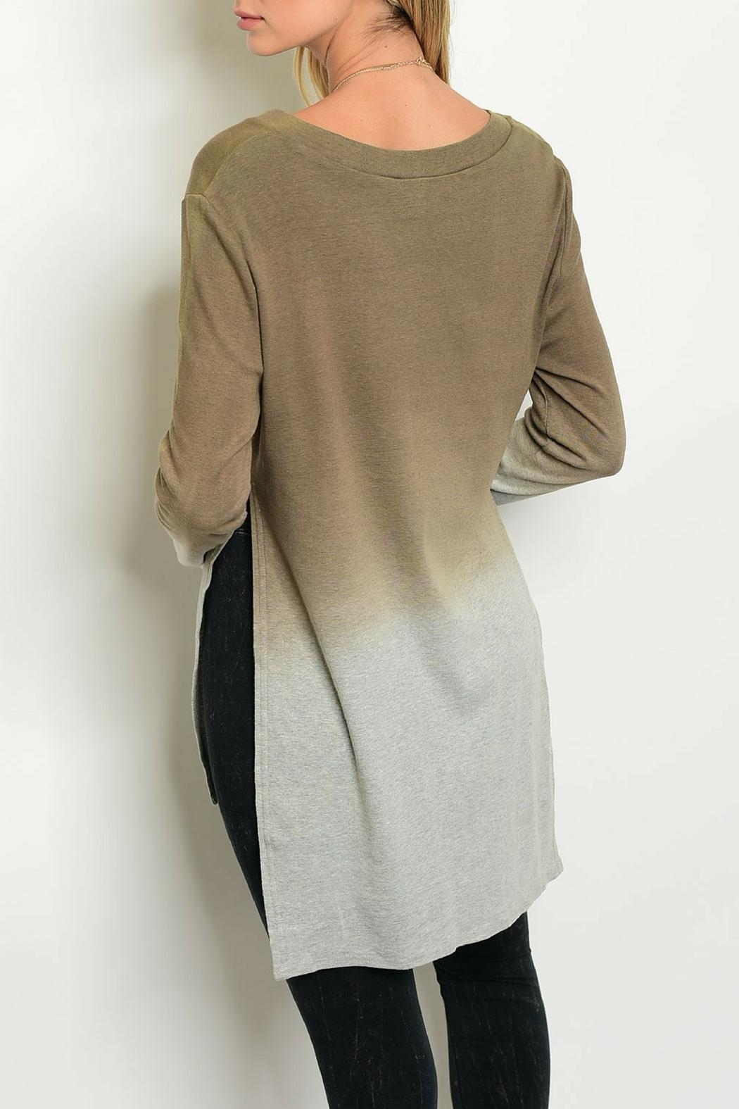 LoveRiche Cocoa Ombre Top - Front Full Image