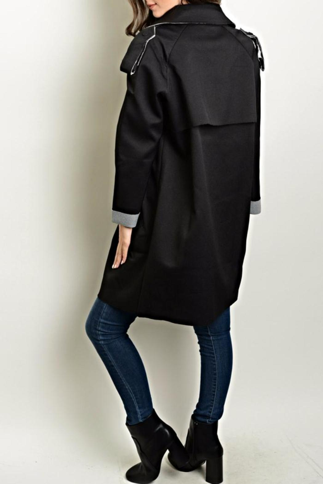Shop The Trends  Distressed Trench Coat - Front Full Image