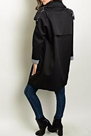 Shop The Trends  Distressed Trench Coat - Front full body