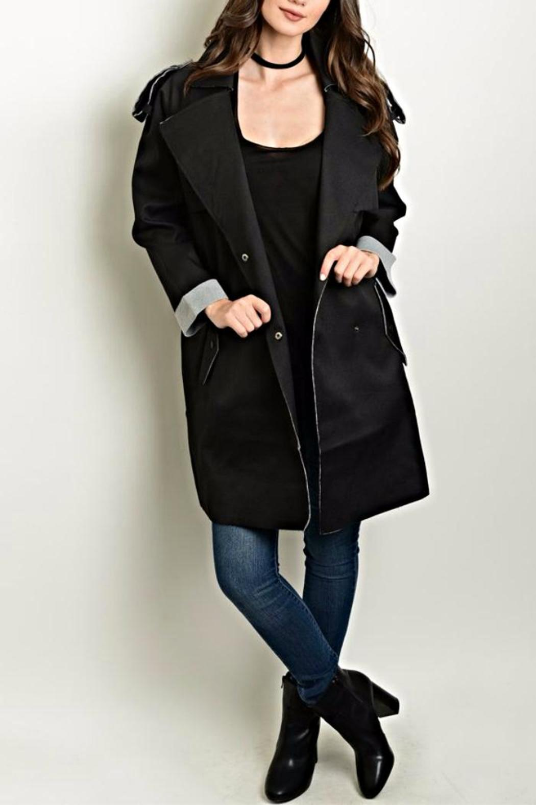 Shop The Trends  Distressed Trench Coat - Main Image