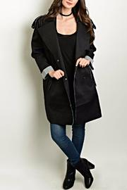 Shop The Trends  Distressed Trench Coat - Product Mini Image