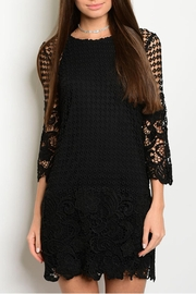 Shop The Trends  Crochet Scallop Dress - Front cropped