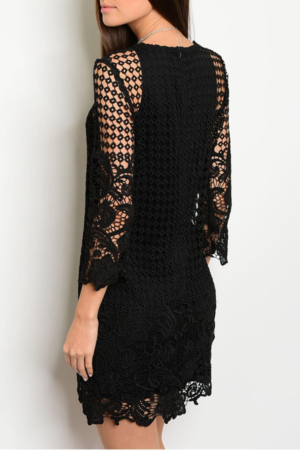 Shop The Trends  Floral Crochet Dress - Front Full Image