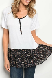 Love Floral Ruffle Top - Product Mini Image