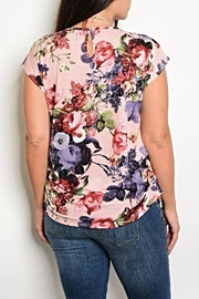 Shop The Trends  Floral Tee - Front full body