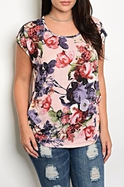 Shop The Trends  Floral Tee - Product Mini Image