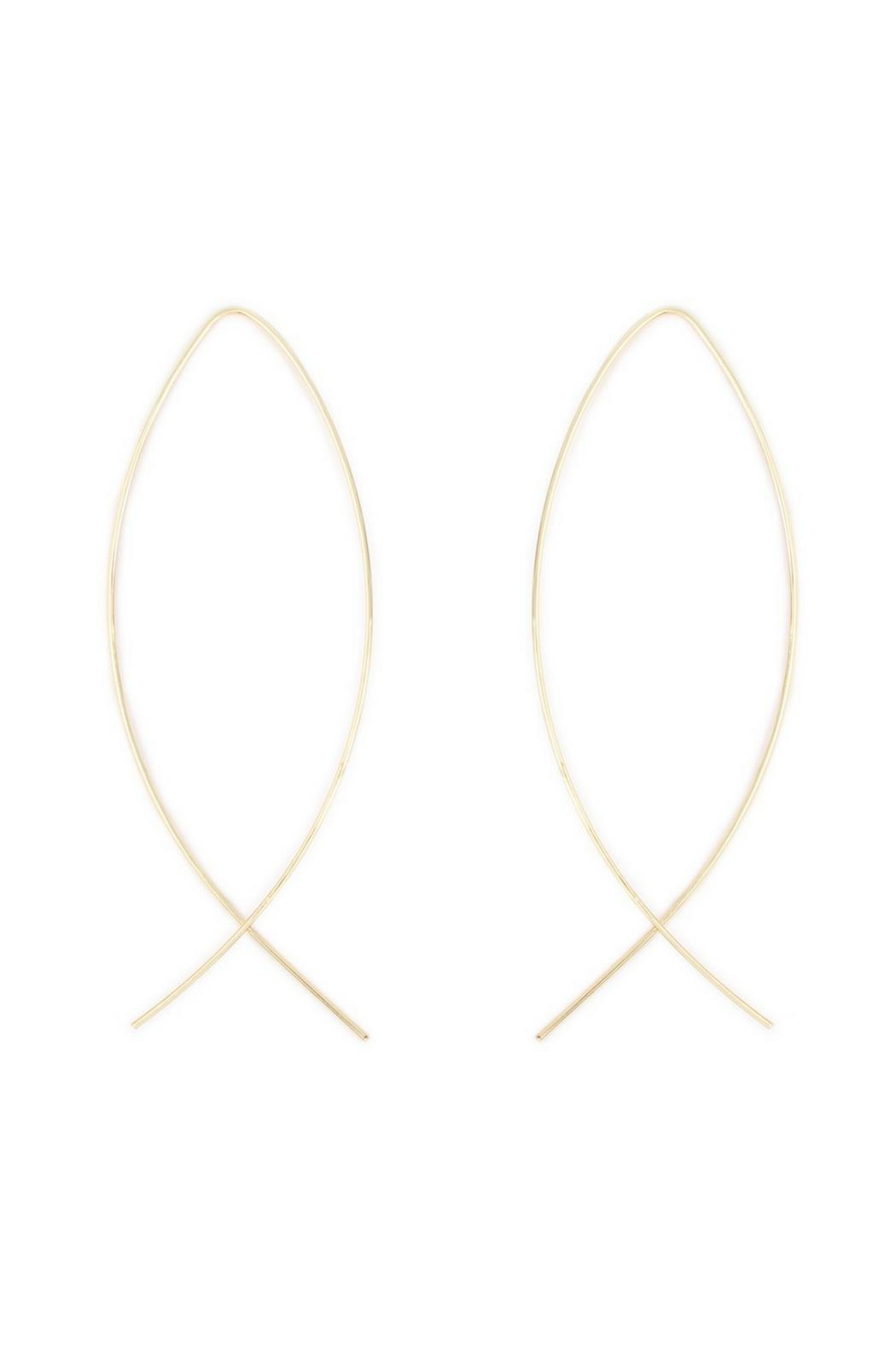 Riah Fashion Gold Hoop Earrings - Main Image