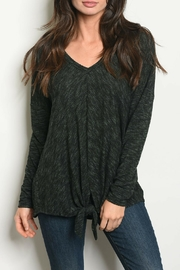 Maronie  Green Black Top - Front cropped