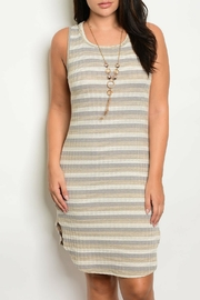 Zenobia Ivory Indigo Dress - Product Mini Image