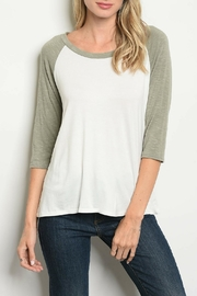Papermoon Ivory Olive Top - Product Mini Image