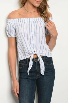Bo Bel Ivory Striped Top - Product List Image