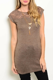 Mine Brown Lace Top - Product Mini Image