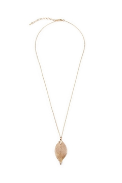 Shoptiques Product: Leaf Pendant Necklace