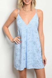 Honey Punch Light Blue Dress - Product Mini Image