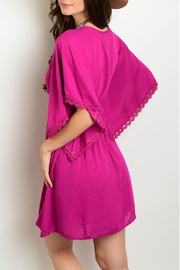 Shop The Trends  Magenta Dress - Front full body