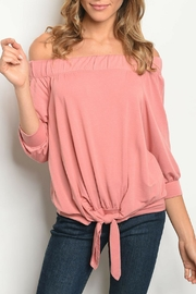 Bo Bel Mauve Off-Shoulder Top - Product Mini Image