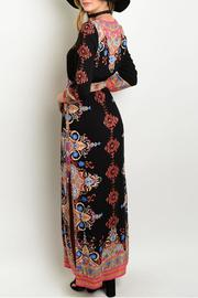Shop The Trends  Maxi Print Dress - Front full body