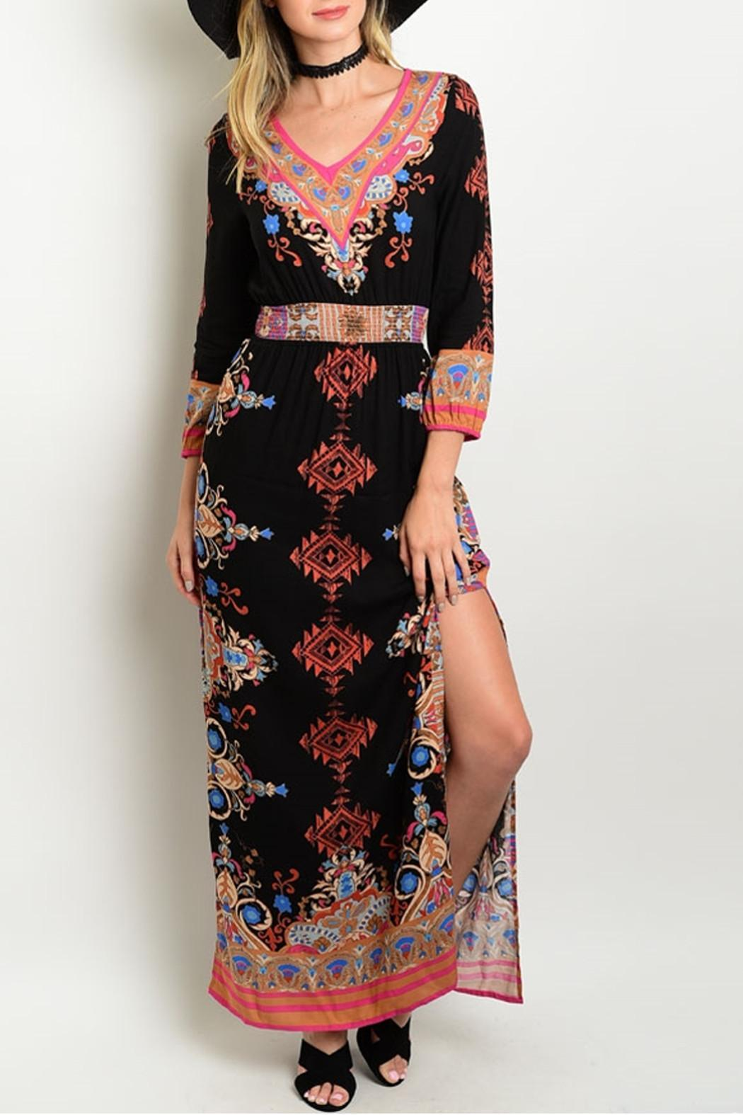 Shop The Trends  Maxi Print Dress - Main Image