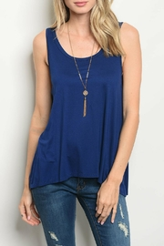 Gilli Navy Jersey Top - Product Mini Image