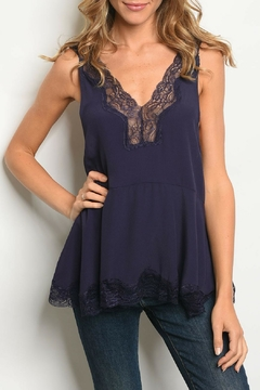 CY USA Navy Lace Top - Product List Image
