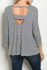Paper Moon Navy Striped Top - Product Mini Image