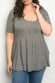Gilli Navy Striped Top - Product Mini Image