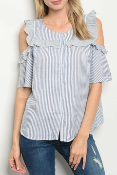Shoptiques Product: Navy Striped Top