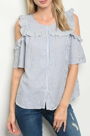 LoveRiche Navy Striped Top - Product Mini Image