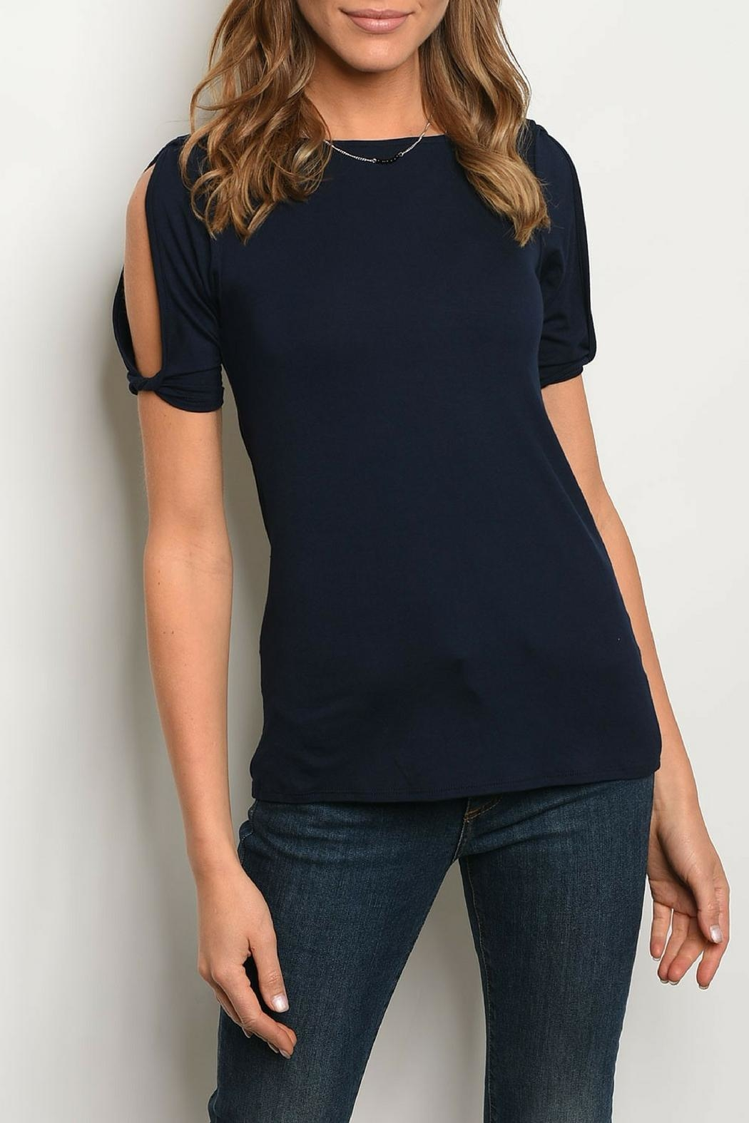 245dc99ad74 Les Amis Navy Top from Kansas by twill tradE — Shoptiques