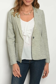 Alythea Olive Linen Blazer - Product Mini Image