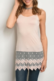Peach Love California Peach Crochet Top - Product Mini Image