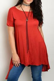 Shop The Trends  Plus-Sized Rust Tunic - Product Mini Image